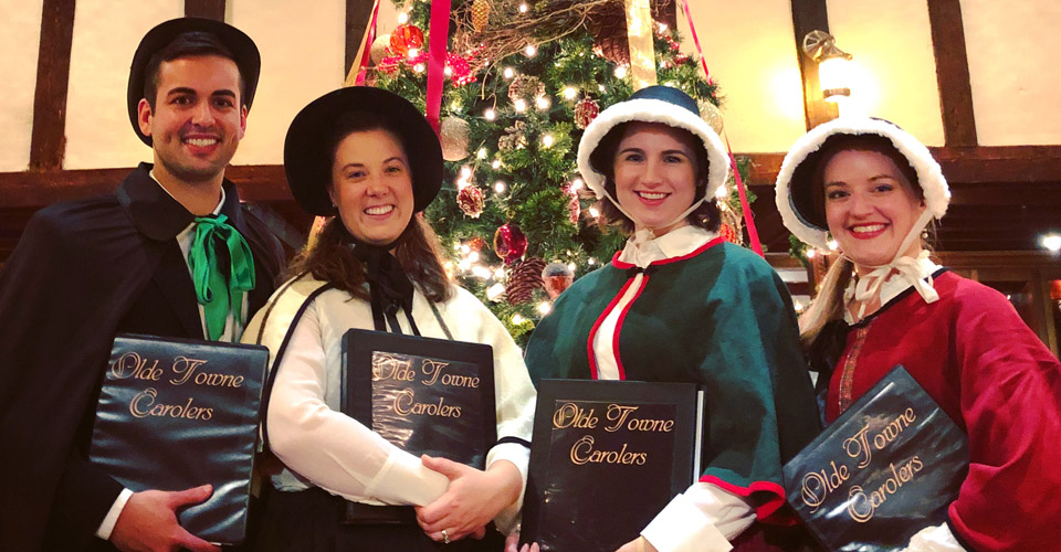 Boston Christmas carolers for hire